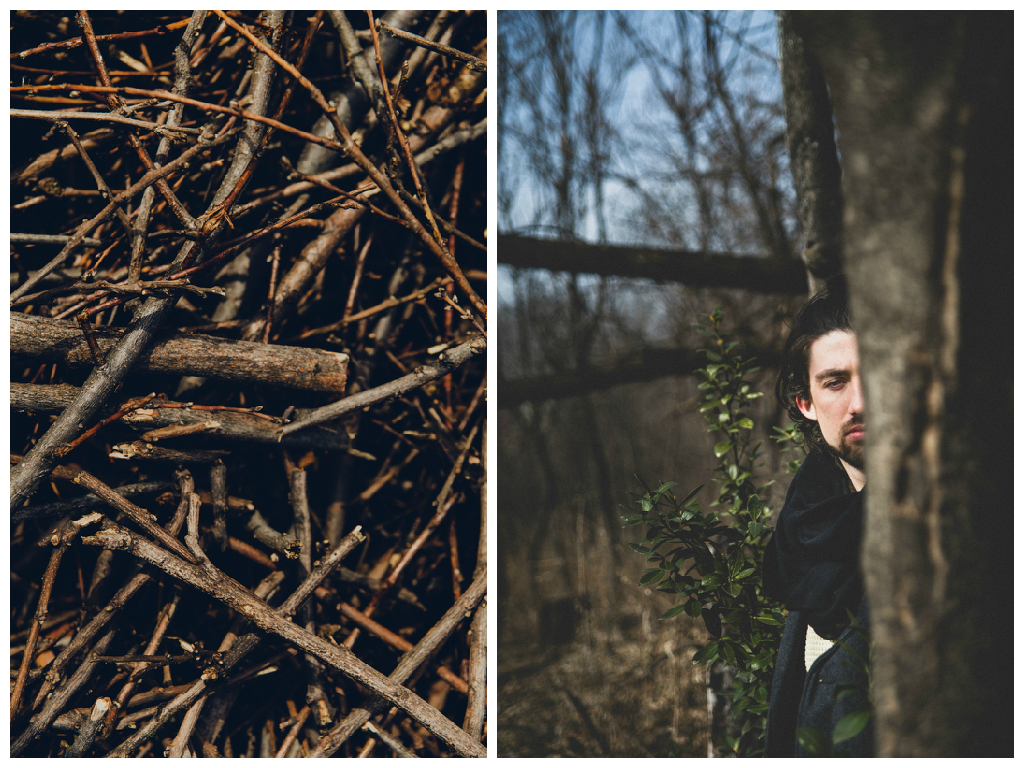 Steve juxtaposed with tree branches