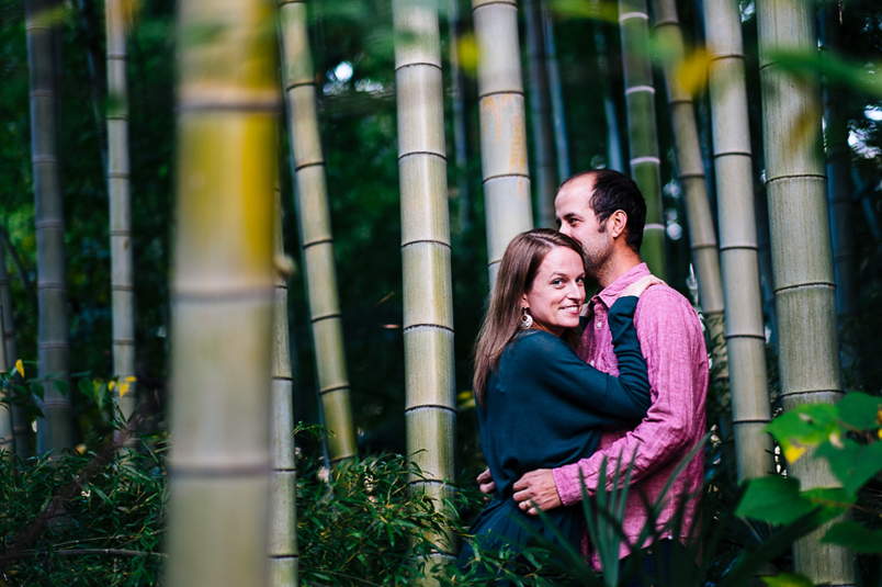 Couple's portrait in bamboo