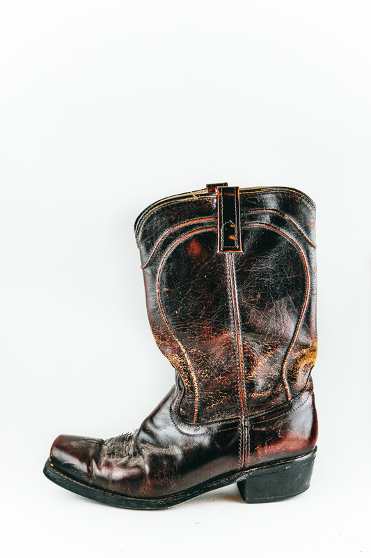 worn leather boot