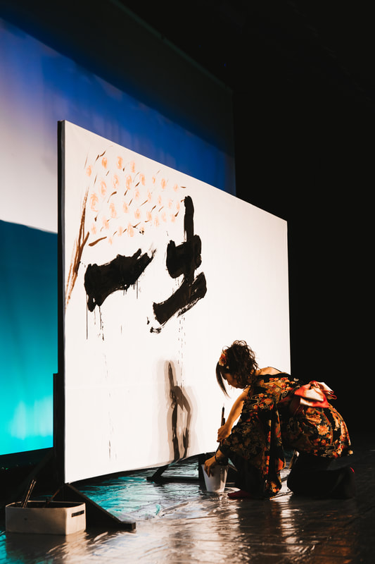 live calligraphy demonstration