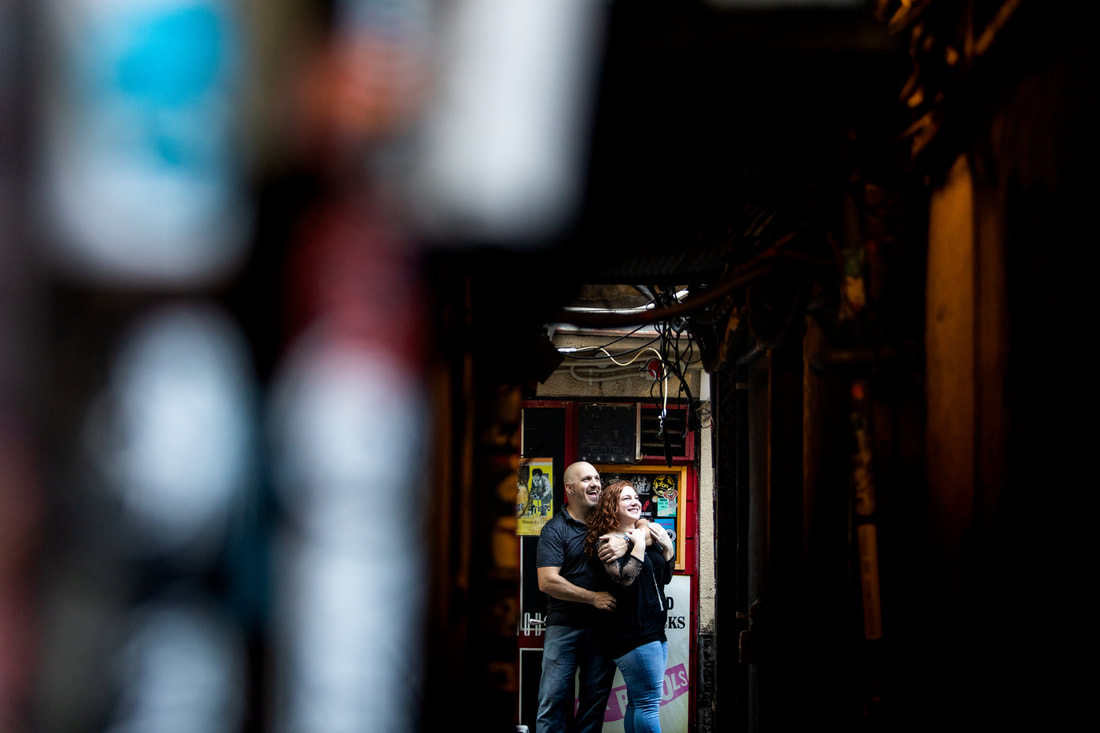 couple laughing in Golden Gai