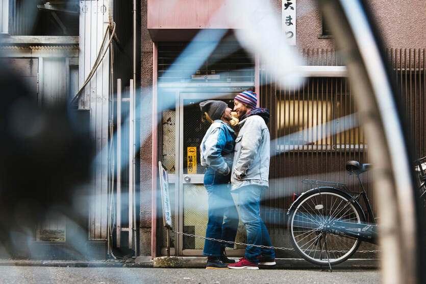lovers in Japan street