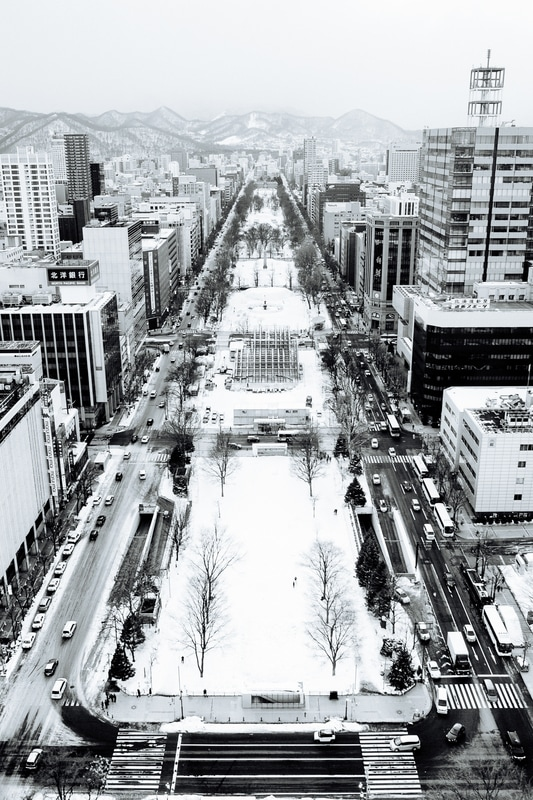 Downtown Sapporo park